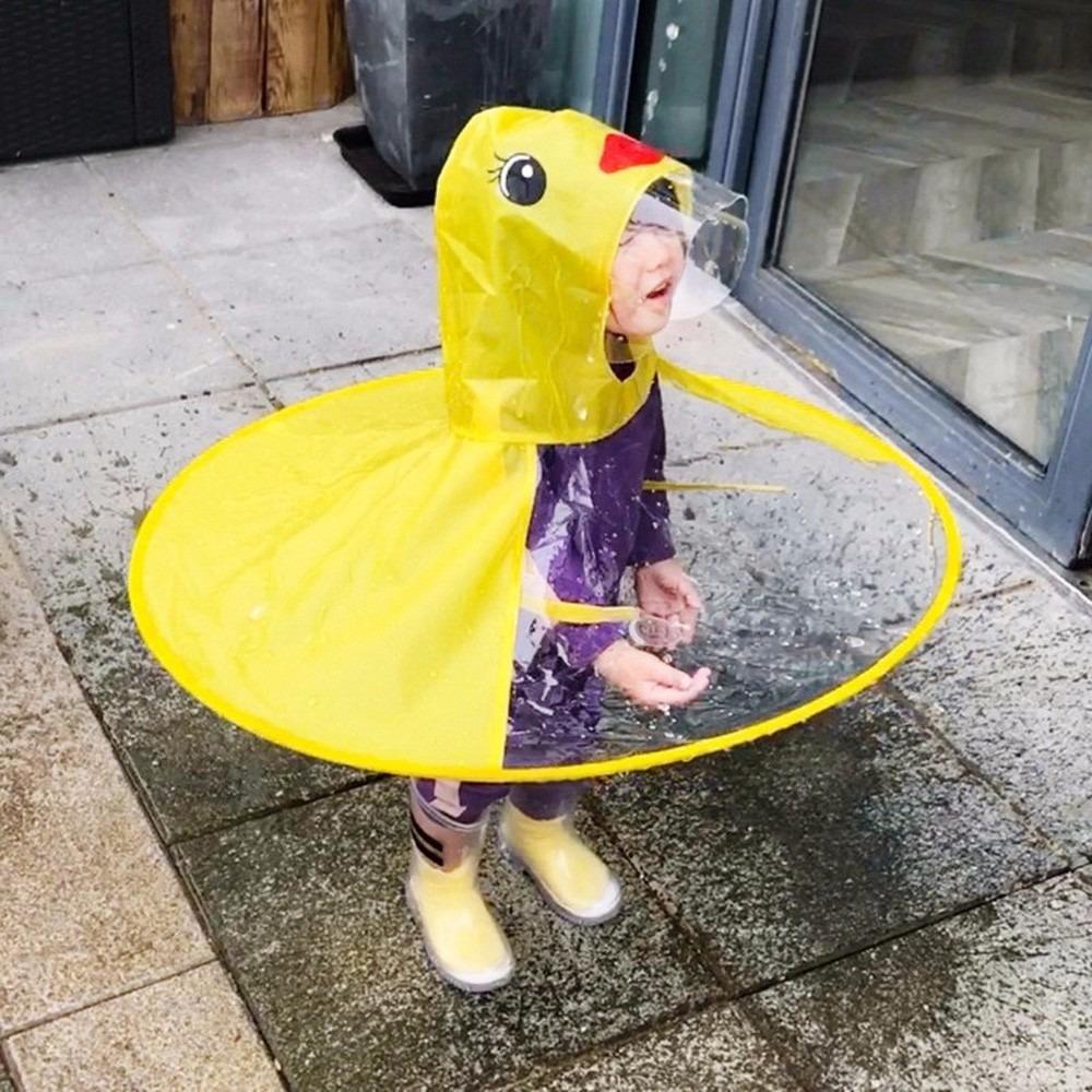 gran variedad de estilos tienda de liquidación ahorre hasta 80% Impermeable Creativo Ufo Niños Impermeable Amarillo Pato Cu