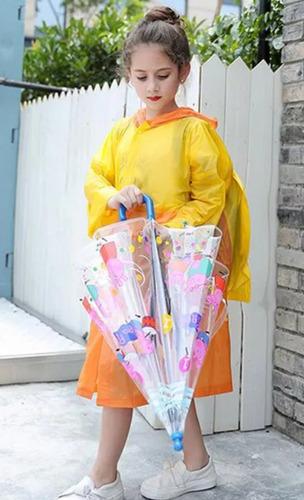 impermeable infantil niño expandible cubre mochila