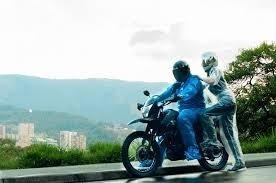 impermeable moto o bicicleta plástico reflectivos -  x mayor