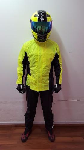 impermeable motociclista cxracing  2 piezas