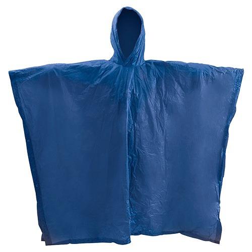 impermeable poncho o capa con manga gris