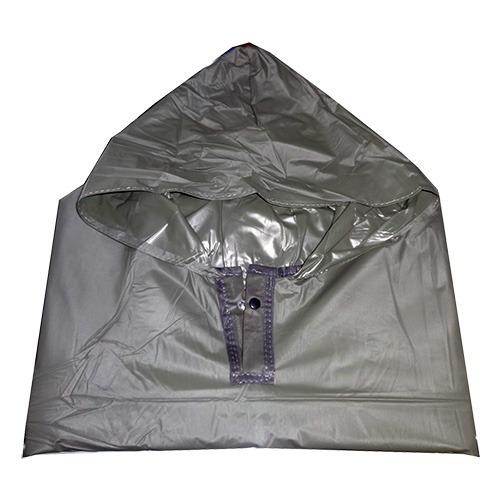 impermeable poncho o capa con manga verde militar