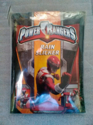 impermeable power rangers talla small 2/3 rain slicker
