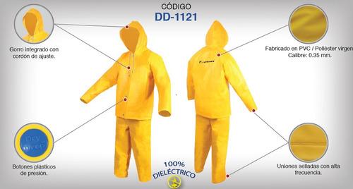 impermeable t-38 saco con capucha y pantalón (2 pzas)