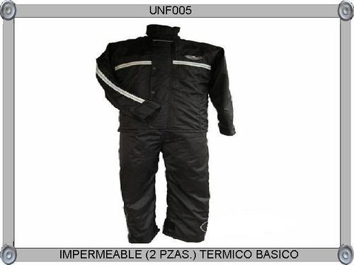 impermeable térmico con plumon y reflectiv para motociclista