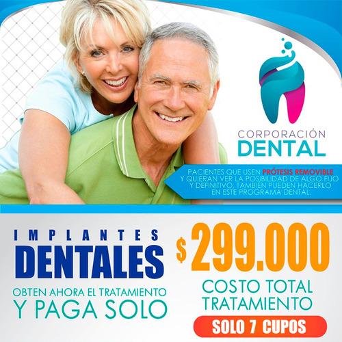 implante dental titanio incluye corona solo 7 cupo