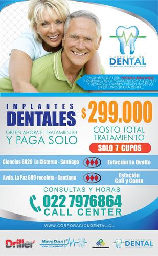 implantes dentales titanio + corona ultimos cupos