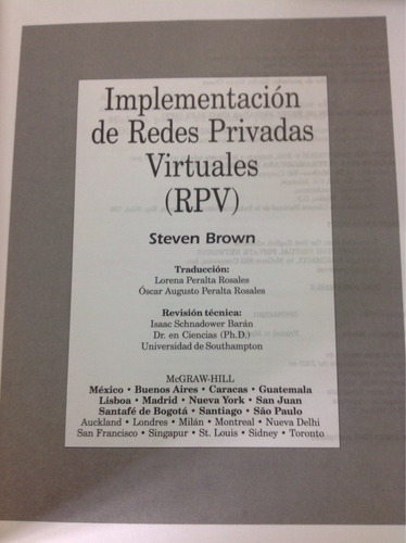 implementación de redes privadas virtuales rpv. steven brown