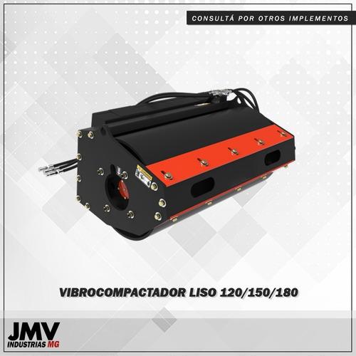 implemento jmv vibrocompactador liso vc120 minicargadora