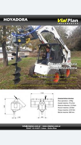 implemento kit hormigonero p/hoyadora vialplan minicargadora