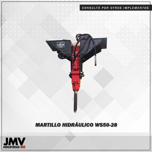 implemento martillo hidráulico ws50-28