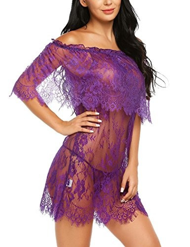 88ba511eb9 Impone Mujeres Sexy Lenceria Para Mujer Encaje Vestido Ropa ...