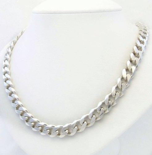 imponente corrente de prata 925 elo gourmet 1x1 53cm j3895