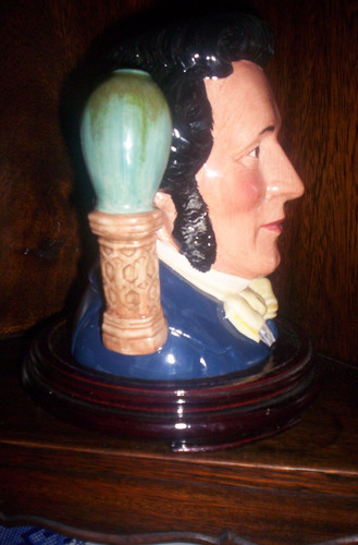 imponente jarra royal doulton doble manija henry doulton