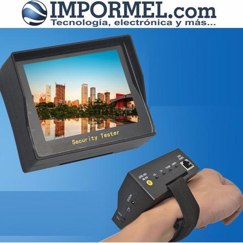impormel monitor probador cámaras de seguridad cctv lcd 3.5