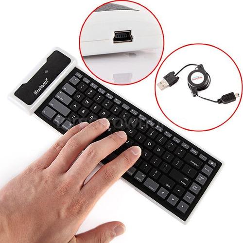 impormel teclado flexible inalámbrico bluetooth pc tablet