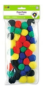 importaciones multicorpo pompoms 125 40pkg colores primarios