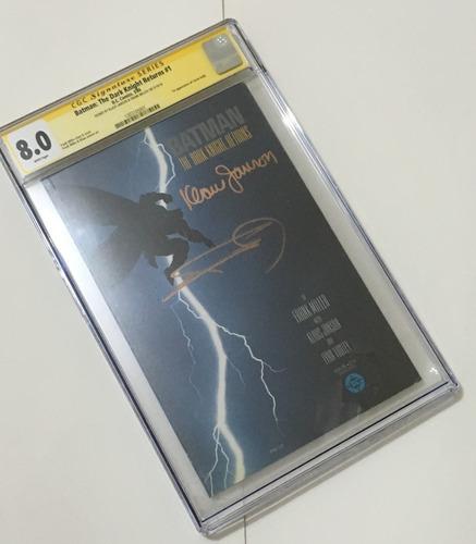 importado batman: the dark knight returns #1 cgc sig. 8.0