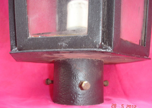 importante gran farol cabezal farola para poste hierro(271p)