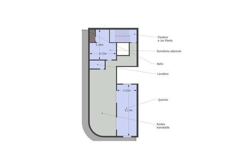 importante ph. 4 dormitorios, terraza y quincho