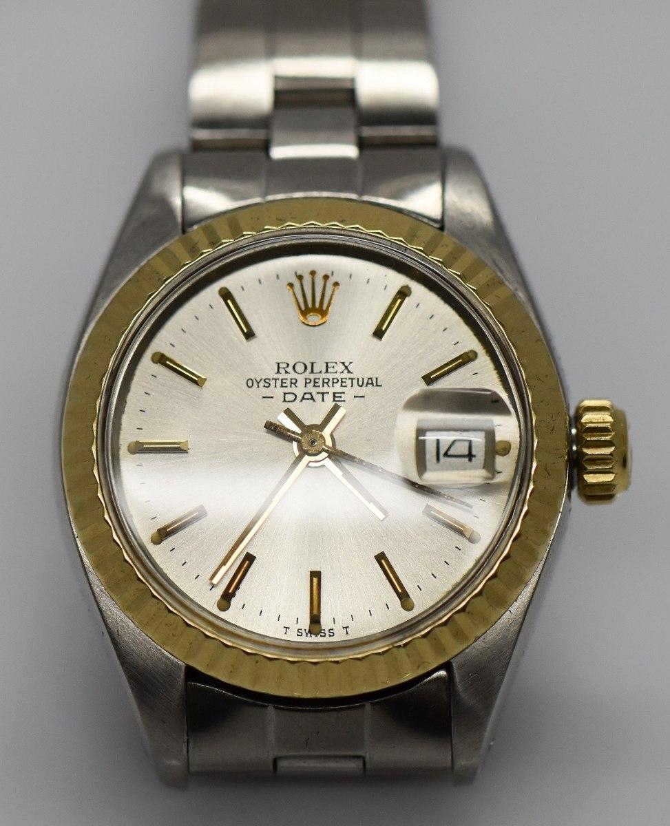 e8cc64dc32f Importante Reloj Dama Rolex 6917 Acero Oro 18k Calendario -   34.000 ...