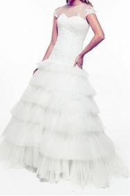 0519fda09 Importante Vestido De Novia, Talle Bajo Marcando El Cuerpo