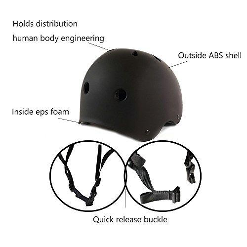 imporx skateboard helmet casco multi-deporte - resistenci...