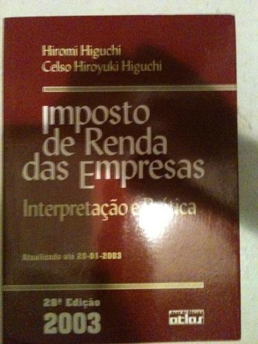 imposto de renda das empresas - interpretação e prática