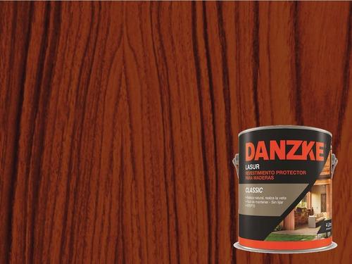 impregnante maderas danzke satinado 4lts - petrilac - universo pinturerias