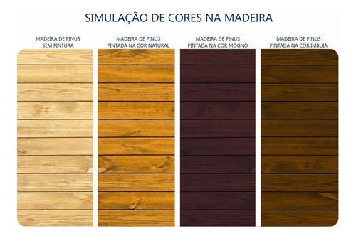 impregnante premium stain plus 3.6l cor imbuia para madeira