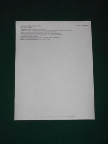 imprenta boletas 5x1 autocp.1.000 $ 10.000+iva. - en horas.