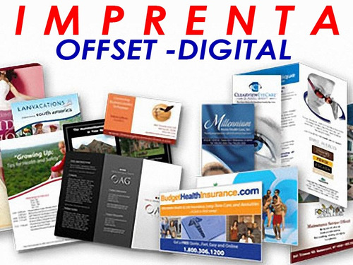 imprenta offset digital carpetas volantes tripticos revistas