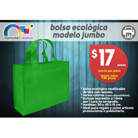 324fcfb6a Bolsa Ecológica Impresa A 1 Tinta - Industrias y Oficinas en Mercado Libre  México