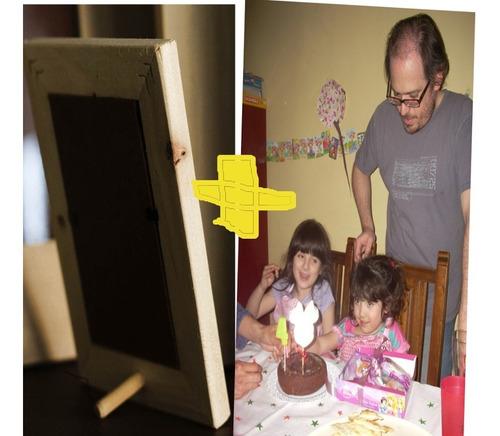 impresión de 4 foto digital + 4 portarretrato crudo 6x9