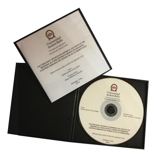impresión de cd para tésis