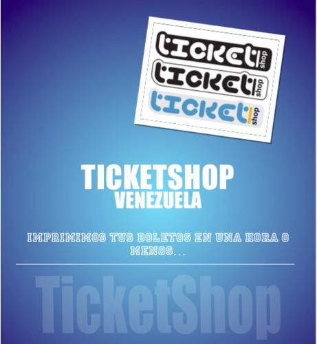 impresión de entradas y tickets en 1 hora o menos.