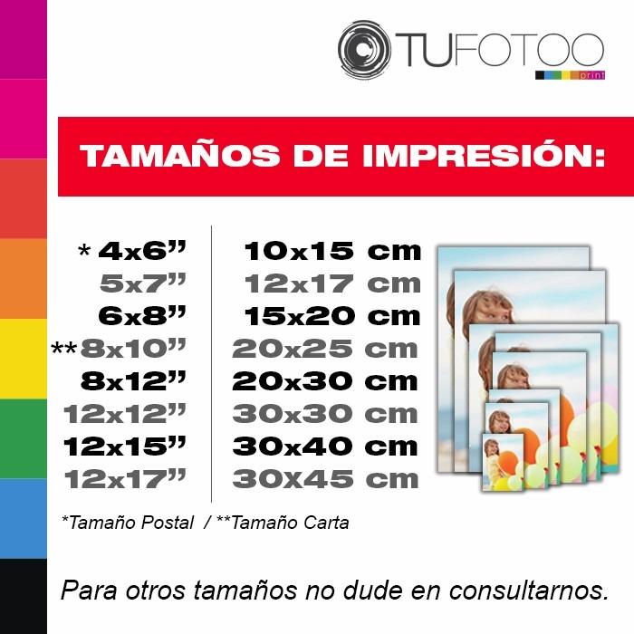 Impresión De Fotos Postal 10x15 Cm Carta 8x10 Bs 30000