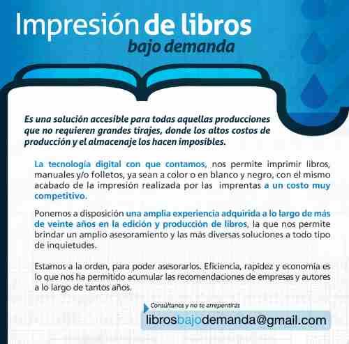 impresión de libros, manuales, folletos bajo demanda