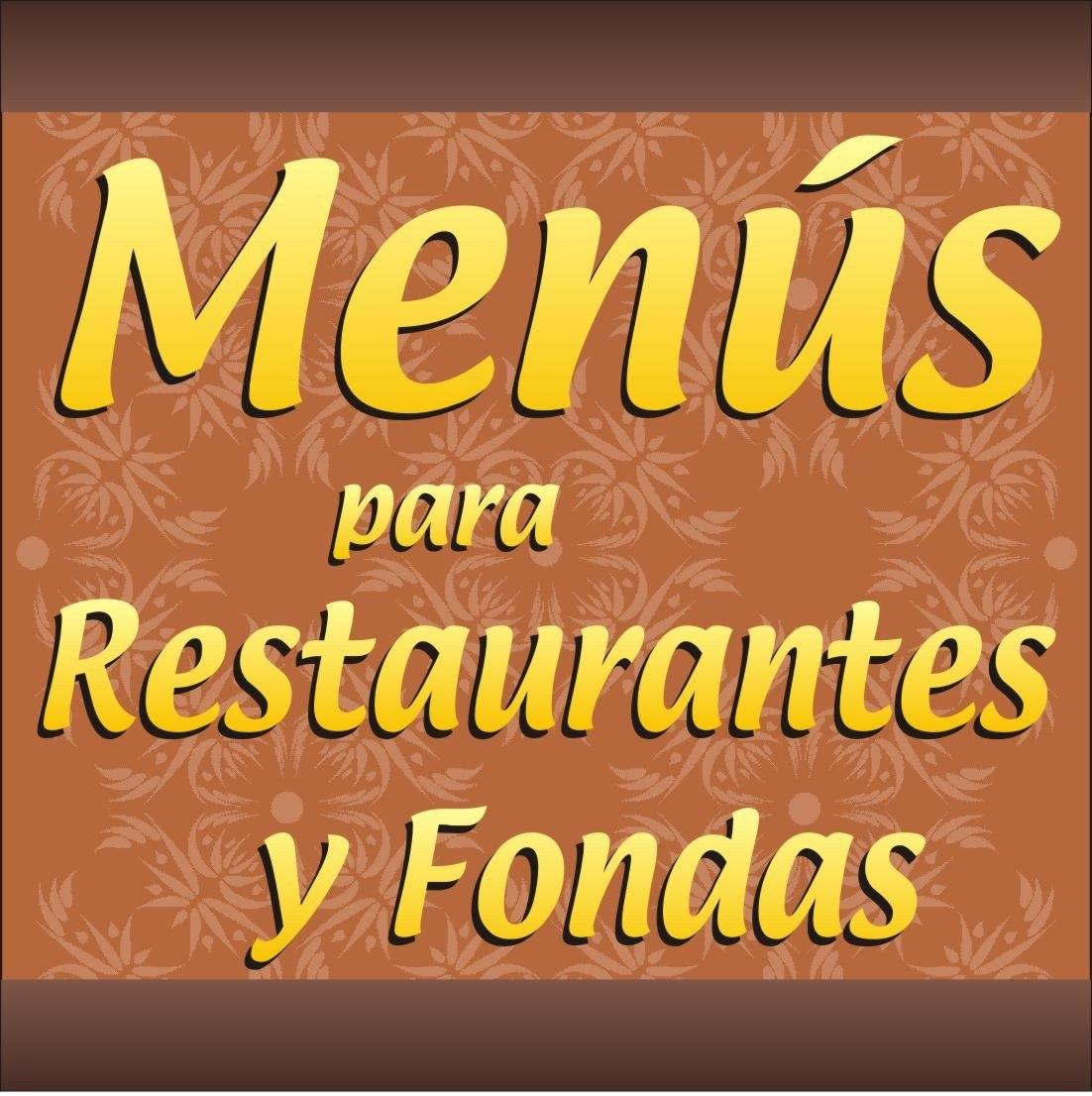 Impresion De Menús Para Restaurante, Fondas, Bares,comedores ...