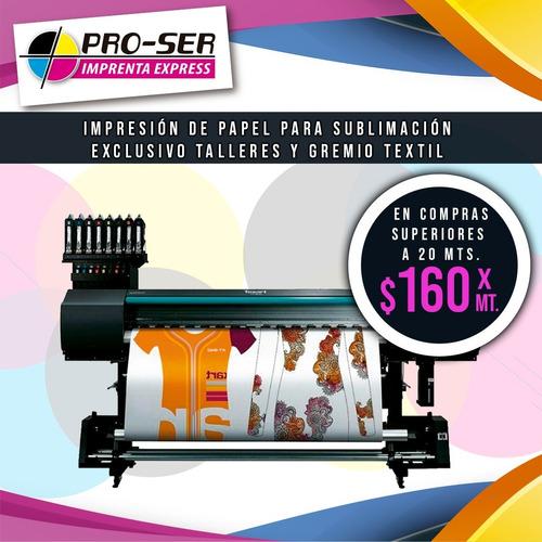 impresión de papel para sublimación - envío a todo el país