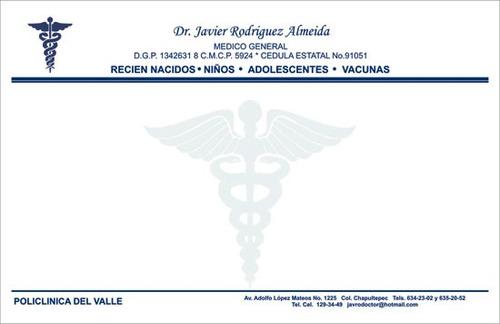 impresión de recetas para médicos, talonarios de recetarios