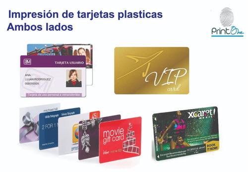 impresion de tarjetas plásticas ambos lados