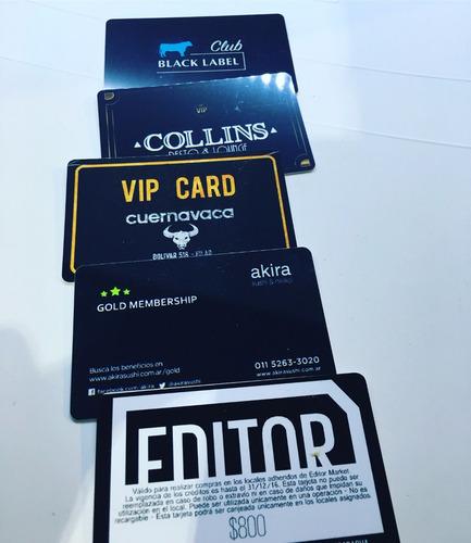 impresion de tarjetas plasticas credenciales vip 24hs