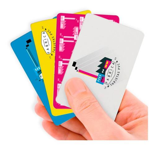 impresion de tarjetas pvc simple faz pvc full color x unidad
