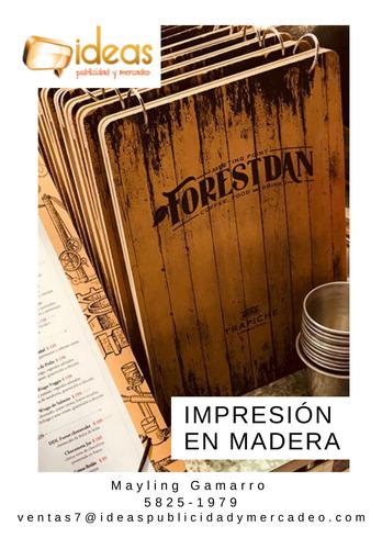 impresión directa en madera