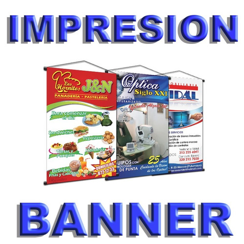 impresión en banner 13 onzas y vinil en alta resolución