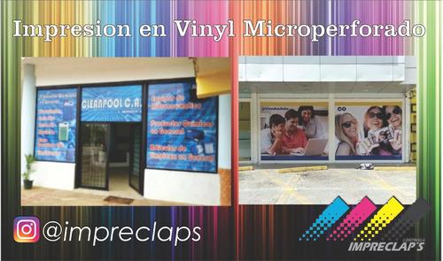 impresión en lona banner,vinyl autoadhesivo,microperforado