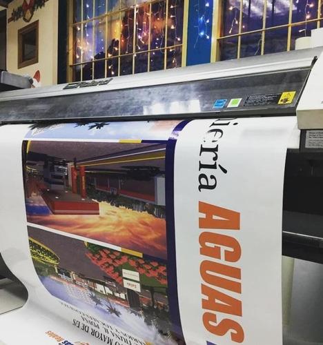 impresión en vinil autoadhesivo y banner