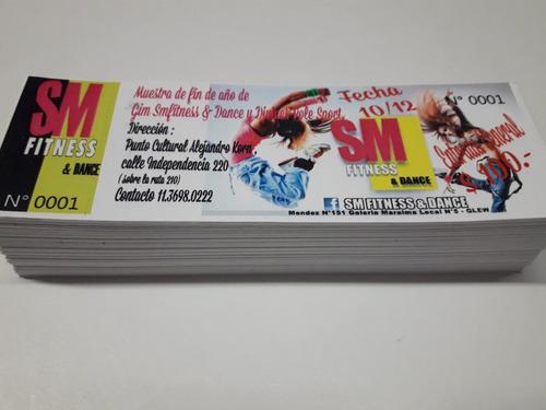 impresión - entradas full color 100 unid. autoadhesivas