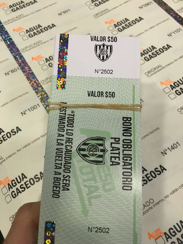 impresion  entradas p/ eventos (no ticketek) acceso total
